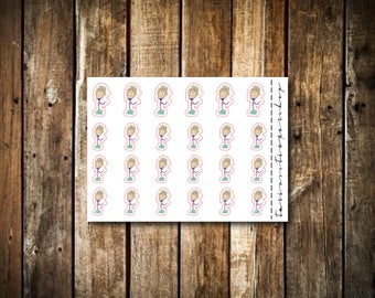 Weight Journey - Cute Blonde Girl - Functional Character Stickers