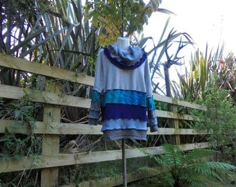 upcycled cowl neck tunic