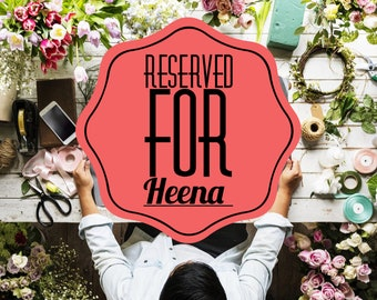 Exclusive listing for Heena