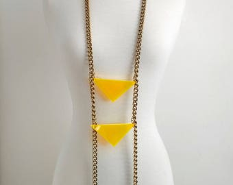 Neon triangle cosmic futuristic geometric body chain for guys and gals