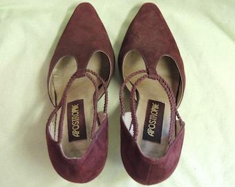 Vintage Suede High Heels
