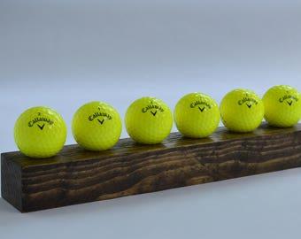 Golf Ball Desk Display Holder (Rustic, Natural)
