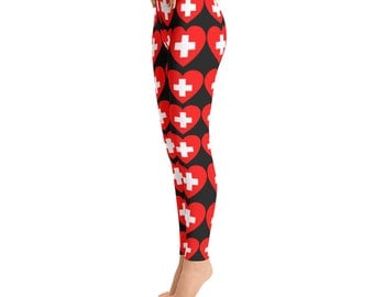 Nurse Leggings -Toddler Leggings - Printed Leggings - Cut out Leggings - Yoga Leggings - Gift for nurse