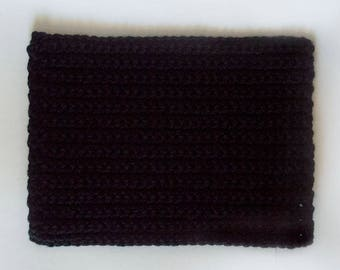 Crochet Table Mat/Black