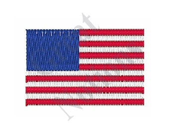 Mini American Flag - Machine Embroidery Design