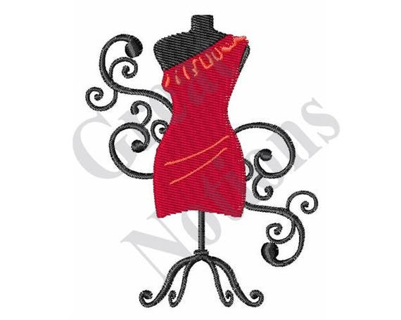 Fashion sewing machine embroidery design from
