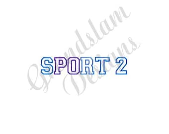 Sport 2 - Machine Embroidery Font