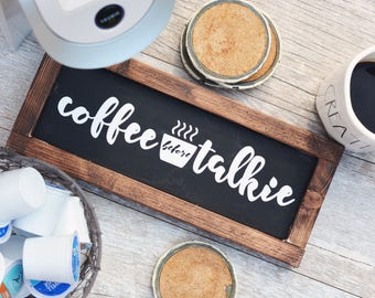 Coffee Gift / Coffee Sign / Kitchen Decor / But First Coffee / Gift for Her /  Housewarming Gift / Coffee Bar / Rustic Wood Sign