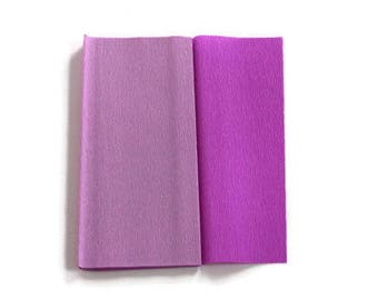 Gloria Doublette Crepe paper / Double sided crepe paper ideal for making paper flowers - Lilac & Light Lilac