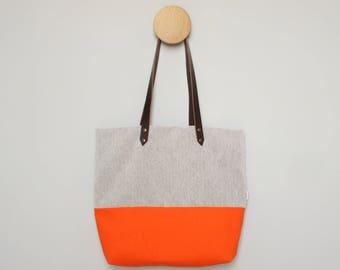 Tote Bag - Orange Canvas