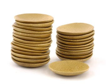 Solid Bamboo Wood Mini Dishes Plates Bowls