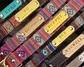 Gorgeous handmade Thai-Bohemian style soft comfort synthetic dog collars