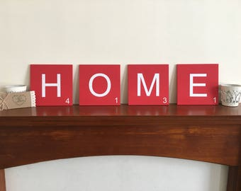 Scrabble Wall Art Tiles in a choice of colours