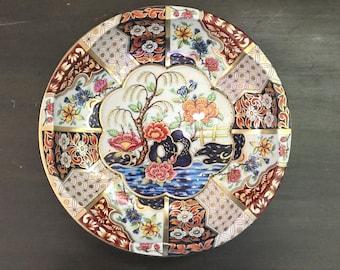 Daher Tin Circular Dish - Flower Scene