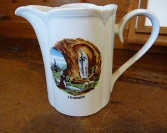 Lourdes souvenir jug