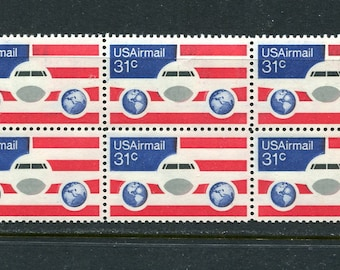 Air Mail Jet Stamps/ 6 Unused Stamps /USA Postage 31 Cent Stamps