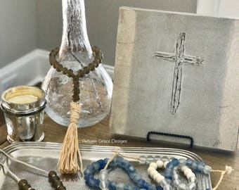 African glass bead decor/home decor
