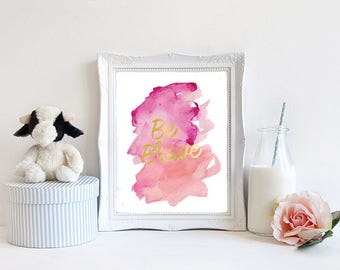 Be Brave Digital Nursery Print