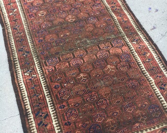 3' x 6' Antique Persian Baluch Rug