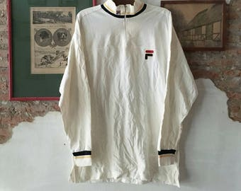 90s FILA 1/4 Zip Pullover