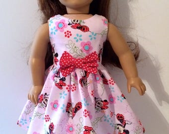 18 Inch Doll Clothes Minnie Mouse Dress With Optional Red Maryjanes With Bows  Fits Like American Girl Doll Clothes