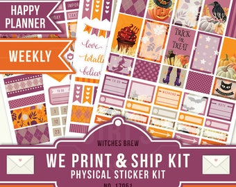 OCTOBER WEEKLY, Happy Planner Stickers, October Planner Stickers, Weekly Planner Kit, October Weekly Kit, Happy Planner Weekly, 17051