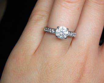 Gorgeous French Set Diamond Engagement Ring