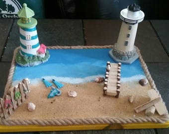 Beach scene decoration