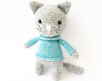 PATTERN - Gusto The Cat - amigurumi pattern, crochet pattern, PDF