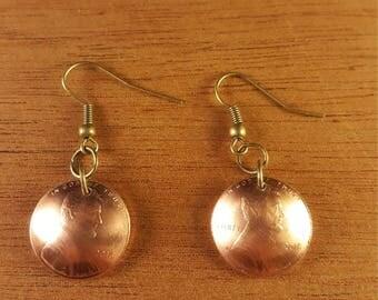 U.S penny earrings