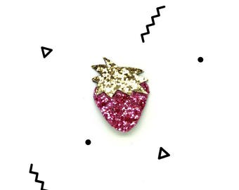 Hand Made sequin Strawberry brooch