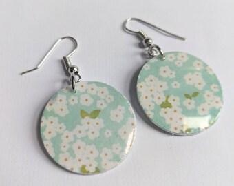 Handmade Paper Dangle Earrings