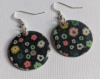 Handmade Two-sided Paper Earrings