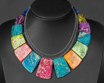 Necklace, Sediment Jasper