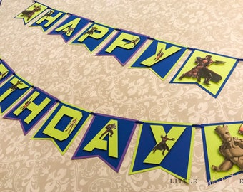Guardians of the Galaxy Birthday Banner