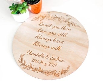 Wedding Renewal Laser Cut Wooden Plaque
