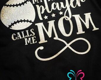 Baseball/Basketball/Soccer/Volleyball Mom T-Shirt