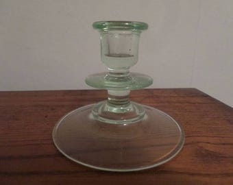 Uranium Glass Candle Holder