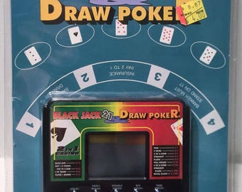 Blackjack 21 and Draw Poker Handheld Video Game Brand New FREE SHIPPING