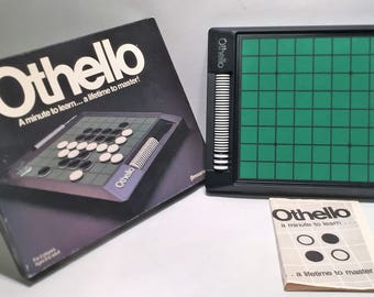 Vintage Othello Game By Pressman - 1990 Edition Great Condition Complete FREE SHIPPING