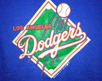 Vintage Los Angeles Dodgers 1988 tee 2 blend Trench MFG Co MLB XLarge