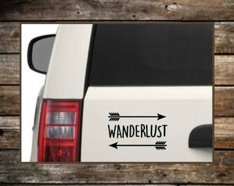 Wanderlust Car Decal / 12 Colors / Nature Decals / Laptop Decals / Car Decals / Adventure Decals / Computer Decals / Window Decals