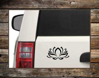 Lotus Flower Decal / 12 Colors / Laptop Decals / Car Decals / Computer Decals / Window Decals
