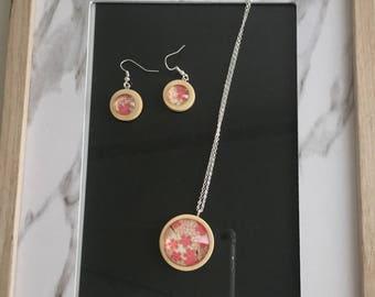 Cherry blossom earring-drop