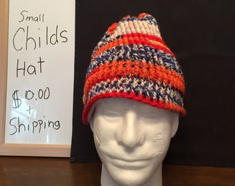 multicolor childs winter hat