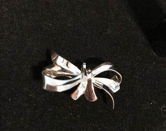 Sterling Bow Pin/Brooch