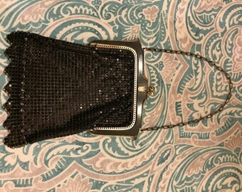 Vintage Black Mesh Purse