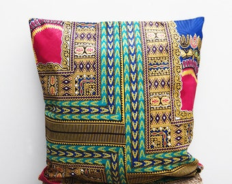 African Cushion / African Pillow / African Print Cushion / Kitenge / African Textile Pillow / Ethnic cushion / tribal pillow