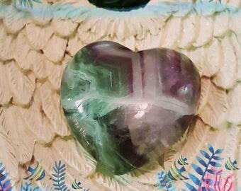 Fluorite Puffy Heart