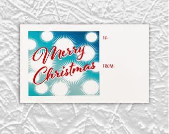 Fuzzy Snowflakes Christmas Gift Tags//Christmas gift tags//Gift tag set//Gift tags